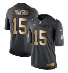 Men's Nike Jacksonville Jaguars #15 Allen Robinson Limited Black/Gold Salute to Service NFL Jersey