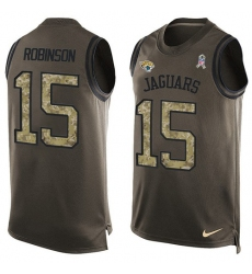 Men's Nike Jacksonville Jaguars #15 Allen Robinson Limited Green Salute to Service Tank Top NFL Jersey