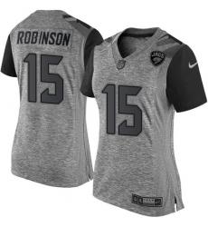 Women's Nike Jacksonville Jaguars #15 Allen Robinson Limited Gray Gridiron NFL Jersey