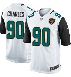 Men's Nike Jacksonville Jaguars #90 Stefan Charles Game White NFL Jersey