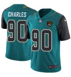 Men's Nike Jacksonville Jaguars #90 Stefan Charles Teal Green Team Color Vapor Untouchable Limited Player NFL Jersey