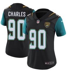 Women's Nike Jacksonville Jaguars #90 Stefan Charles Elite Black Alternate NFL Jersey