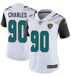 Women's Nike Jacksonville Jaguars #90 Stefan Charles Elite White NFL Jersey
