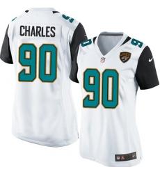 Women's Nike Jacksonville Jaguars #90 Stefan Charles Game White NFL Jersey