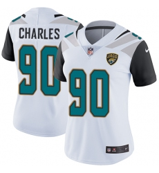 Women's Nike Jacksonville Jaguars #90 Stefan Charles White Vapor Untouchable Limited Player NFL Jersey