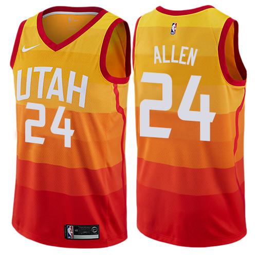finest selection 4d5b8 c18ec Youth Nike Utah Jazz #24 Grayson Allen Swingman Orange NBA ...